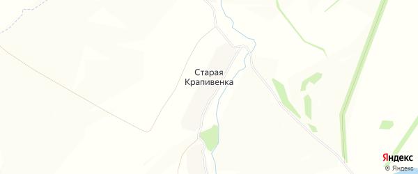 Карта деревни Старой Крапивенки в Тульской области с улицами и номерами домов