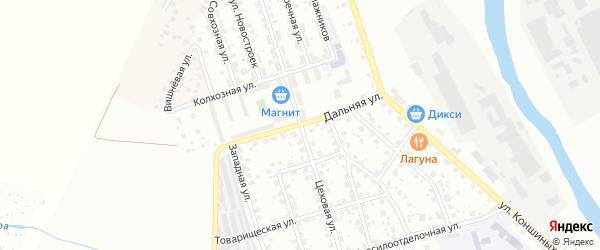 Дальняя улица на карте Серпухова с номерами домов