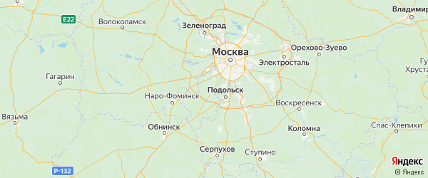 Карта Десеновского поселения города Москвы с городами и населенными пунктами