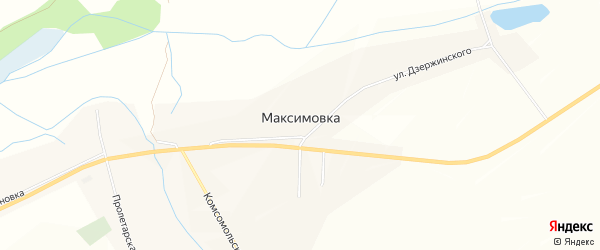 Карта села Максимовки в Белгородской области с улицами и номерами домов