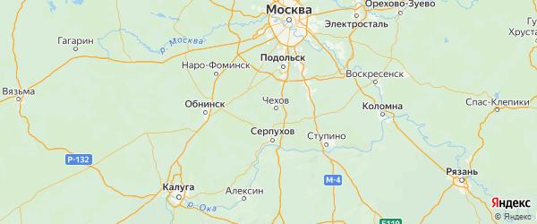 Карта Чеховского района Московской области с городами и населенными пунктами