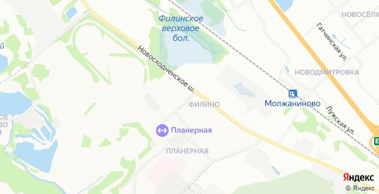 Карта квартала Филино в Химках с улицами, домами и почтовыми отделениями со спутника онлайн