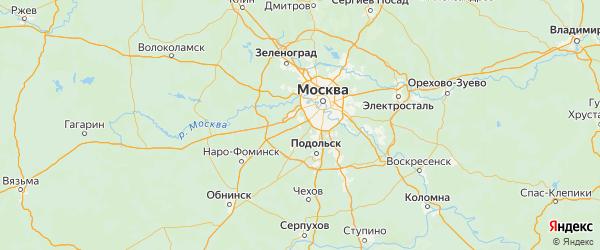 Карта поселения Московского города Москвы с городами и населенными пунктами
