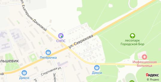 Улица Севрюкова в Серпухове с номерами домов на карте. Спутник и схема онлайн