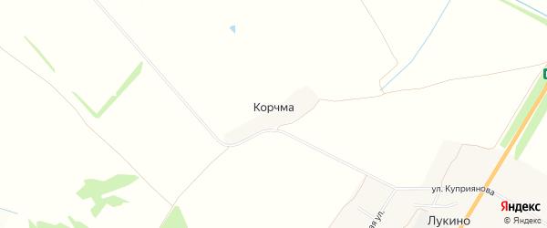 Карта деревни Корчмы в Тульской области с улицами и номерами домов