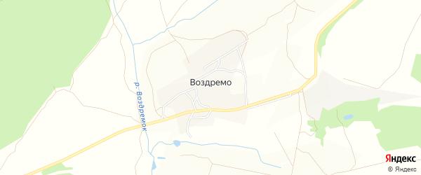 Карта деревни Воздремо в Тульской области с улицами и номерами домов