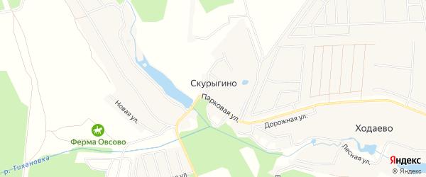Карта деревни Скурыгино города Чехов в Московской области с улицами и номерами домов