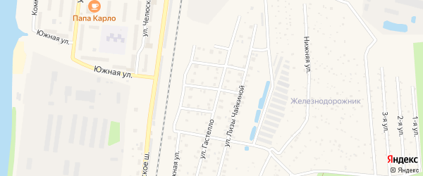 3-й Железнодорожный проезд на карте Кимр с номерами домов