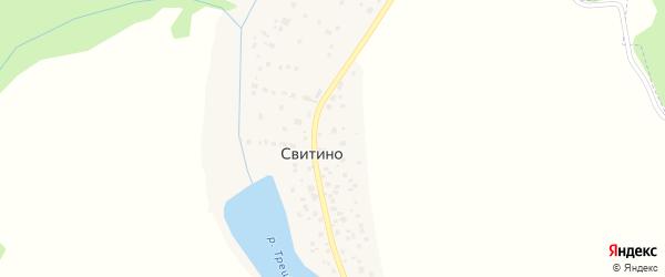 Территория СНТ Рассвет на карте деревни Свитино с номерами домов