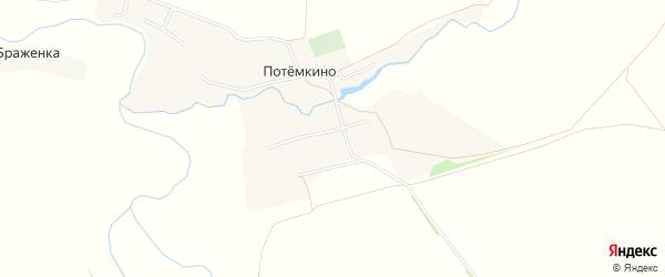Карта села Потемкино в Тульской области с улицами и номерами домов
