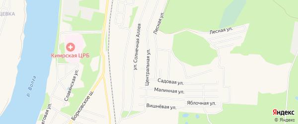 Садовое товарищество сдт Южный-3 на карте Кимр с номерами домов