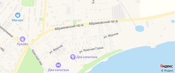 Спортивный переулок на карте Кимр с номерами домов