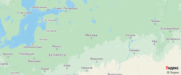 Карта Московской области с городами и районами