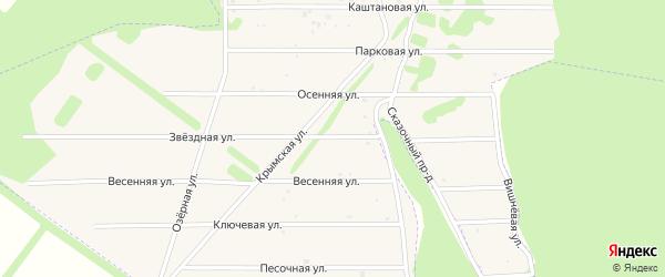 Звездная улица на карте Заокского поселка Тульской области с номерами домов
