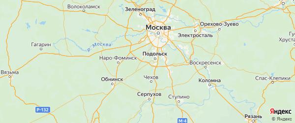 Карта Щаповского поселения города Москвы с городами и населенными пунктами