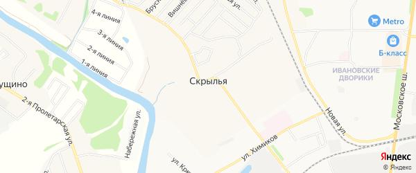 Карта Скрыльи деревни в Московской области с улицами и номерами домов
