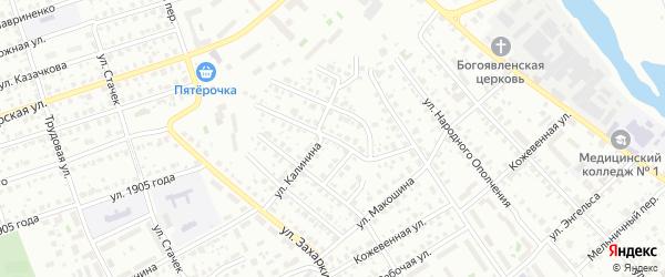 3-й Поселковый переулок на карте Серпухова с номерами домов