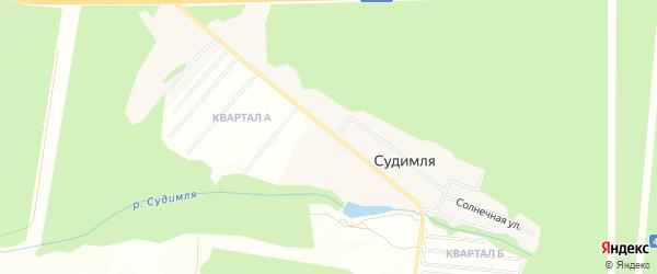 Карта деревни Судимли в Московской области с улицами и номерами домов
