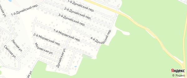 4-й Дунайский переулок на карте Щаповского поселения с номерами домов
