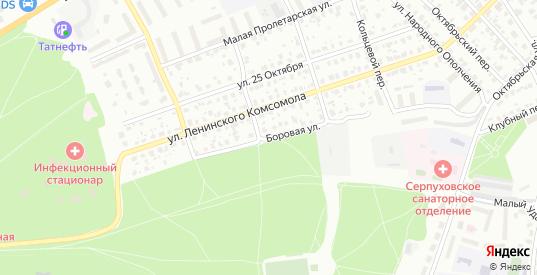 Боровая улица в Серпухове с номерами домов на карте. Спутник и схема онлайн
