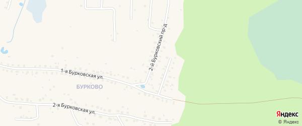 2-й Бурковский проезд на карте Кимр с номерами домов