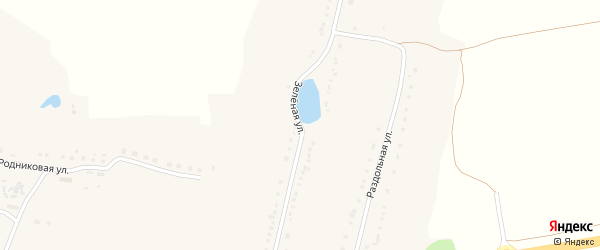 Зеленая улица на карте села Бобровы Дворы с номерами домов