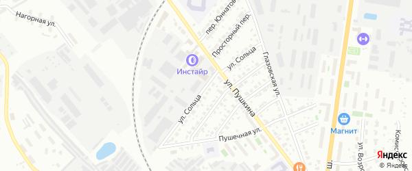 Улица Сольца на карте Серпухова с номерами домов