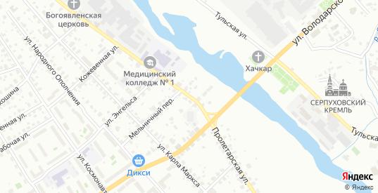 Пролетарская улица в Серпухове с номерами домов на карте. Спутник и схема онлайн
