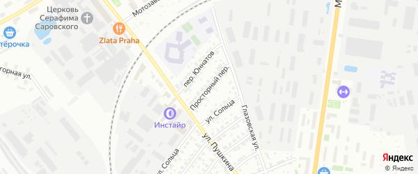Просторный переулок на карте Серпухова с номерами домов