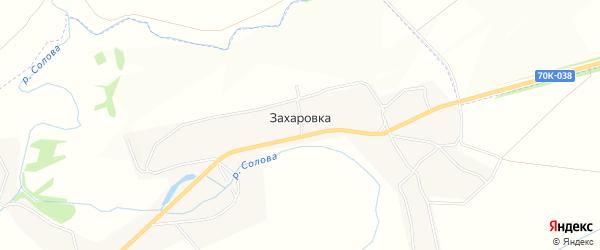 Карта деревни Захаровка в Тульской области с улицами и номерами домов