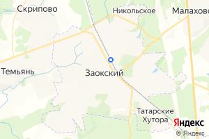 Карта пос. Заокский Тульская область