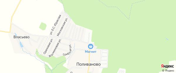Территория садоводческого некоммерческого товарищества Лесная сказка на карте деревни Сляднево с номерами домов