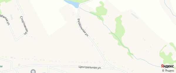 Раздольная улица на карте села Речицы Орловской области с номерами домов