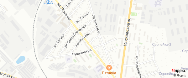 Летний переулок на карте Серпухова с номерами домов