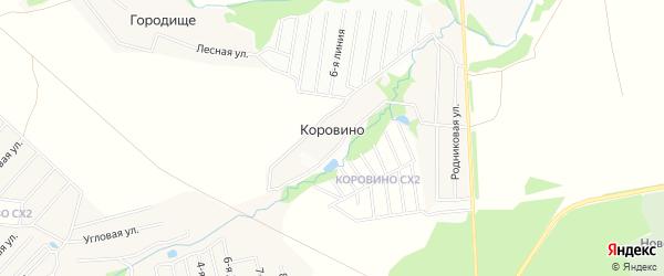 Карта деревни Коровино города Чехов в Московской области с улицами и номерами домов
