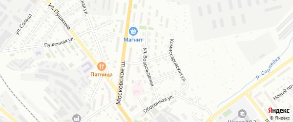 Переулок 4-й Возрождения на карте Серпухова с номерами домов