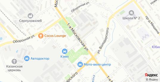 Улица Урицкого в Серпухове с номерами домов на карте. Спутник и схема онлайн