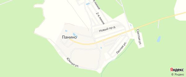 Карта деревни Панина города Чехов в Московской области с улицами и номерами домов