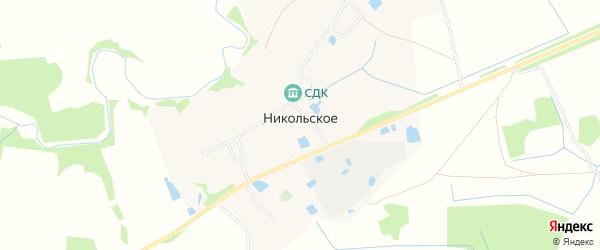 Карта деревни Никольского Никольского сельского поселения в Тверской области с улицами и номерами домов