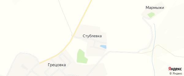 Карта деревни Стублевки в Тульской области с улицами и номерами домов