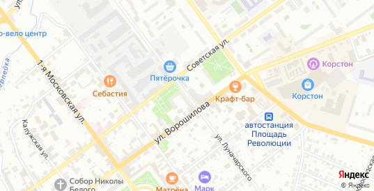Улица Луначарского в Серпухове с номерами домов на карте. Спутник и схема онлайн
