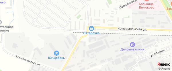 Комсомольская улица на карте Чехов с номерами домов