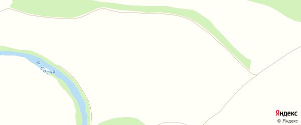 Улица Афонина на карте деревни Безодного Орловской области с номерами домов