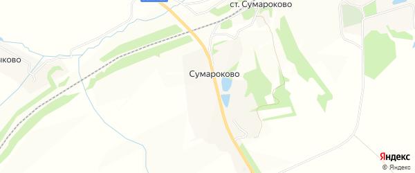 Карта села Сумароково в Тульской области с улицами и номерами домов