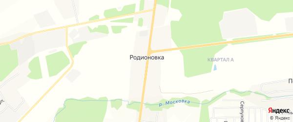 Карта деревни Родионовки в Московской области с улицами и номерами домов