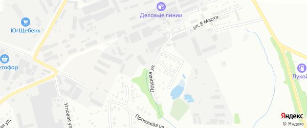Прудная улица на карте Чехов с номерами домов
