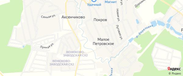 Территория Покров-Погост СХ на карте деревни Покрова с номерами домов