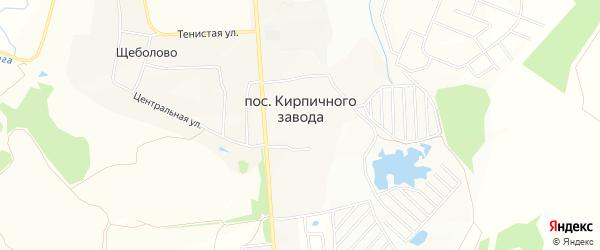 Карта поселка Кирпичного завода в Московской области с улицами и номерами домов