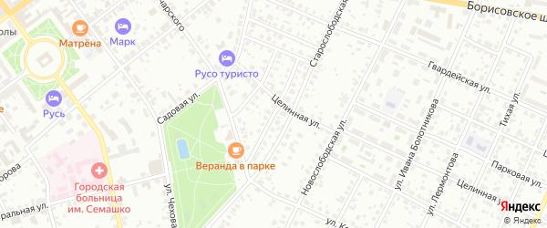 2-й Луначарский переулок на карте Серпухова с номерами домов