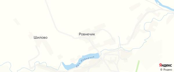 Карта поселка Ровнечика в Орловской области с улицами и номерами домов